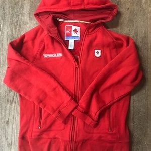 Sweaters - Hudson's Bay 🇨🇦 Olympic Zip Up MD Women's Hoodie